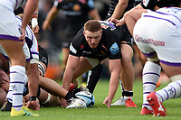 Sam Simmonds of Exeter Chiefs looks to score a try. Gallagher Premiership match, between Exeter Chiefs and Leicester Tigers on September 1, 2018 at Sandy Park in Exeter, England. Photo by: Patrick Khachfe / JMP