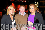Pictured at the INEC, Killarney on New Year's Eve were l-r: Lorraine Maher (Kilkenny) Brian Maher (Kilkenny) and Serena Maher (Kilkenny).