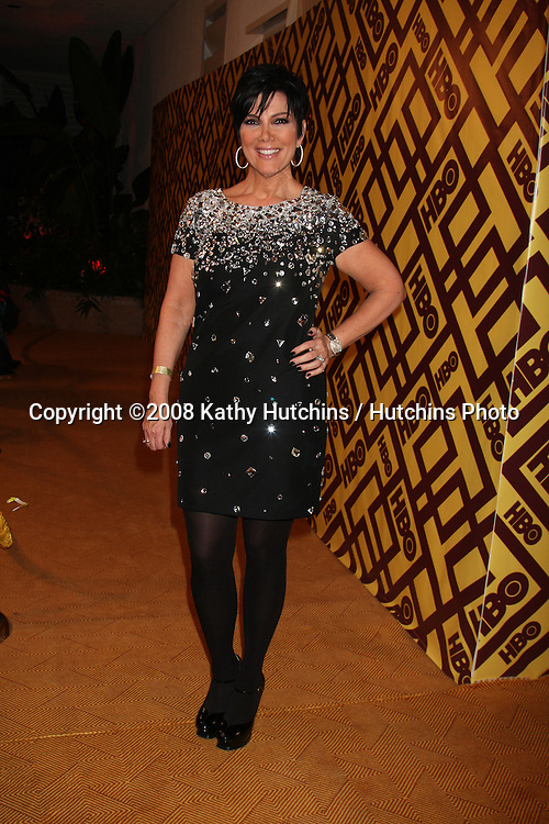 Kris Jenner arriving  at the HBO Post Golden Globe Party at Circa 55, at the Beverly Hilton Hotel in Beverly Hills, CA on .January 11, 2009.©2008 Kathy Hutchins / Hutchins Photo..                .