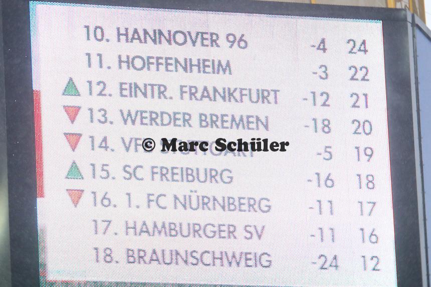 Eintracht macht in der Tabelle einen Sprung - Eintracht Frankfurt vs. Eintracht Braunschweig, Commerzbank Arena