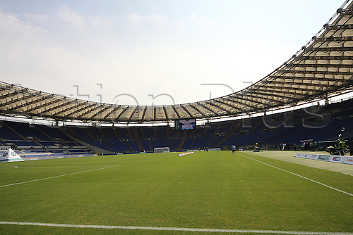 25.09.2011 Rome Italy. A general view of the stadium, before the Serie A match between S.S. Lazio and Palermo, played in the Stadio Olimpico Rome.