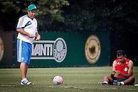 SÃO PAULO,SP,19 JULHO 2013 - TREINO PALMEIRAS -  O tecnico Gilson Kleina durante treino do Palmeiras no CT da Barra Funda, zona oeste de Sao Paulo,na manhã sexta feira.O time se prepara para o jogo contra o Figueirense em Florianopolis no sabado (20).FOTO ALE VIANNA - BRAZIL PHOTO PRESS.