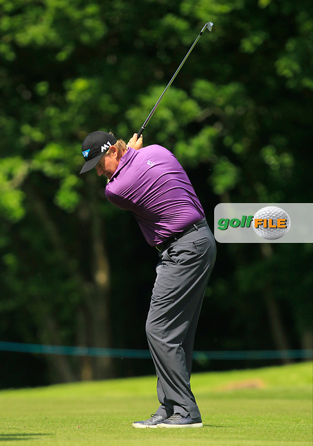 Ernie Els (RSA) on the 18th fairway during the Pro-Am of The BMW PGA Championship  at Wentworth Golf Club on Wednesday 24rd May 2017.<br /> Photo: Golffile / Thos Caffrey.<br /> <br /> All photo usage must carry mandatory copyright credit     (&copy; Golffile | Thos Caffrey)