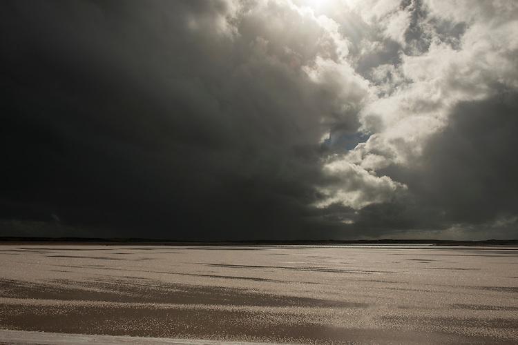 Salt farming at Shark bay salt, a solar salt farm, in Western Australia.