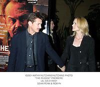 "©2001 KATHY HUTCHINS/HUTCHINS PHOTO.""THE PLEDGE"" PREMIERE.LA, CA 01/09/01.SEAN PENN & ROBYN"
