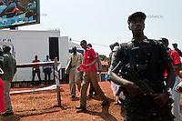 Rwandan president Paul Kagame arrives to the presidential campaign rally in Gisagara District, Rwanda, July 28 2010.