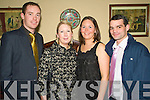 6621-6624.Enjoying the night out at the Listowel Emmets GAA Club Social held in The Listowel Arms Hotel on Saturday night were l/r Danny Morriarty, Tracey McCrudden, Maeve & Vincent O'Leary........................................................................................................................ ............