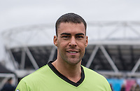 JAY GARDNER (GEORDIE SHORE) during the SOCCER SIX Celebrity Football Event at the Queen Elizabeth Olympic Park, London, England on 26 March 2016. Photo by Kevin Prescod.