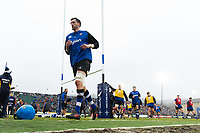 Luke Charteris and the rest of the Bath Rugby team leave the field after the pre-match warm-up. Anglo-Welsh Cup match, between Bath Rugby and Newcastle Falcons on January 27, 2018 at the Recreation Ground in Bath, England. Photo by: Patrick Khachfe / Onside Images