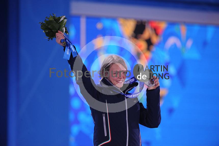 OLYMPICS: SOCHI: Medal Plaza, 13-02-2014, Short Track, Ladies' 500m, Arianna Fontana ©photo Martin de Jong