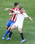 Atletico de Madrid's Stefan Savic (l) and Sevilla FC's Wissam Ben Yedder during La Liga match. March 19,2017. (ALTERPHOTOS/Acero)