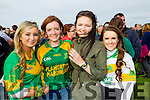 Marian Nolan, Jessica Fitzell, Roisin O'Regan and Kristen Curran, pictured at the St Brendans v Kilmoyley County Hurling final in Abbeydorney on Sunday.