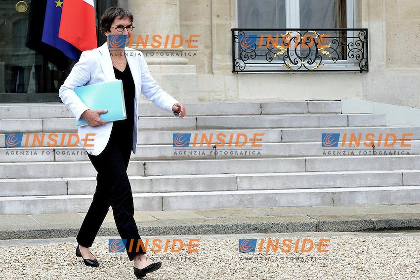 Valérie Fourneyron Ministro dello sport, gioventù e l'istruzione popolare.Parigi 11/07/2012 Palazzo Presidenziale dell'Eliseo - Consiglio dei Ministri Francese.Foto Insidefoto /Gerard Roussel / Panoramic.ITALY ONLY.