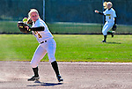 15 April 2009: University of Vermont Catamount infielder Katherine Sisson a Junior from Underhill, VT, in action against the University at Albany Great Danes at Archie Post Field in Burlington, Vermont. The Great Danes swept the Catamounts 2-0 and 12-0 in the afternoon double-header. Mandatory Photo Credit: Ed Wolfstein Photo