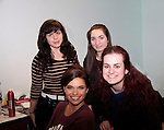 On set Guiding Light's Mandy Bruno in the makeup room with Ashley Thomas (back left), Lisa and Rosie Sklar (right front) (1/13/15) and shooting the movie Price For Freedom tells the story of an Iranian Jew who worked to counter oppression after the 1979 Islamic Revolution was shot in Orange County and Italy and premieres May 29, 2015 at the Hoboken Film Festival, Middletown, NY. (Photo by Sue Coflin/Max Photos)