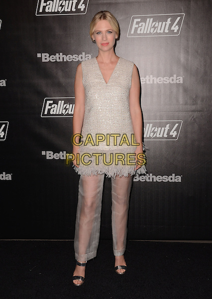05 November - Los Angeles, Ca - January Jones. Arrivals for the official launch party of the video game &quot;Fallout 4&quot; held at a private location in Downtown LA.  <br /> CAP/ADM/BT<br /> &copy;BT/ADM/Capital Pictures