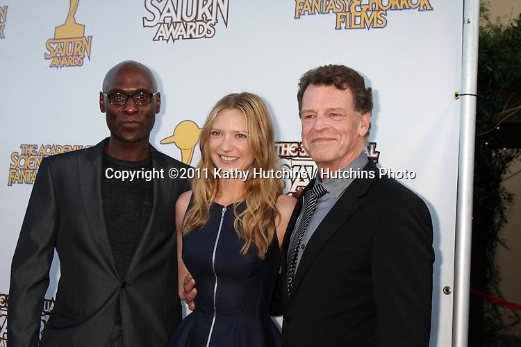 LOS ANGELES - JUN 23:  Lance Reddick, Anna Torv, John Noble arriving at the 2011 Saturn Awards  at Castaways on June 23, 2011 in Burbank, CA