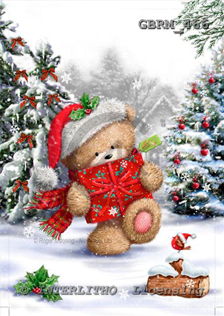Roger, CHRISTMAS ANIMALS, paintings+++++,GBRM466,#xa# Weihnachten, Navidad, illustrations, pinturas