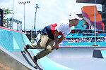 Kensuke Sasaoka (JPN), <br /> AUGUST 28, 2018 - Skateboarding : <br /> Men's Street Qualification<br /> at Jakabaring Sport Center Skatepark <br /> during the 2018 Jakarta Palembang Asian Games <br /> in Palembang, Indonesia. <br /> (Photo by Yohei Osada/AFLO SPORT)