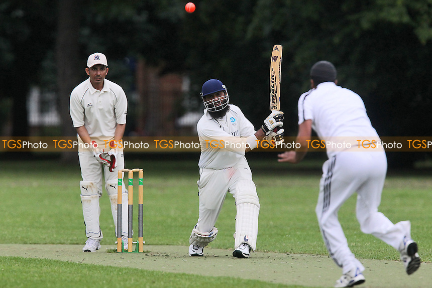 Sky CC (batting) vs East London Community CC - Victoria Park Community Cricket League at Victoria Park, London - 03/07/12 - MANDATORY CREDIT: Gavin Ellis/TGSPHOTO - Self billing applies where appropriate - 0845 094 6026 - contact@tgsphoto.co.uk - NO UNPAID USE.