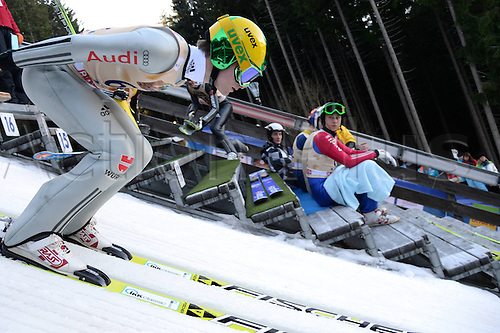 13.12.2013 Titisee-Neustadt Germany. Mens World Cup Ski-Jumping Training and Qualification. Marinus Kraus (GER).