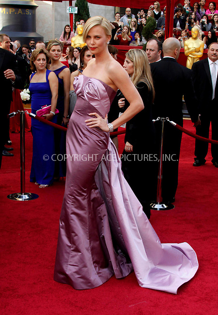 WWW.ACEPIXS.COM . . . . .  ....March 7 2010, Hollywood, CA....Actress Charlize Theron at the 82nd Annual Academy Awards held at Kodak Theatre on March 7, 2010 in Hollywood, California.....Please byline: Z10-ACE PICTURES... . . . .  ....Ace Pictures, Inc:  ..Tel: (212) 243-8787..e-mail: info@acepixs.com..web: http://www.acepixs.com
