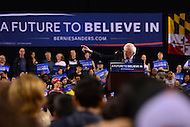 Baltimore, MD - April 23, 2016: 2016 presidential candidate Sen. Bernie Sanders speaks during a campaign rally at the Royal Farms Arena in Baltimore, MD, April 23, 2016.  (Photo by Don Baxter/Media Images International)