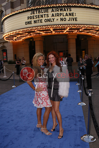"""Phoebe Price and Bridgetta Tomarchio<br /> at the launch of Jet Blue out of Burbank and 25th anniversary screening of """"Airplane"""" at Warner Bros. Studios, Burbank, CA 06-13-05<br /> David Edwards/DailyCeleb.Com 818-249-4998"""