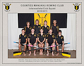 Counties Manukau  Rowing Club 2010/2011 Intermediate Club squad photo.