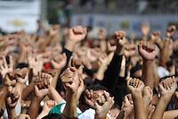 SAO PAULO, SP, 01 DE MAIO  DE 2012 -  1º DE MAIO UNIFICADO - O dia do trabalhador unificado que foi comemorado com ato organizado pela Força Sindical e diversos outros sindicatos na praça Campos de Bagatelle, zona norte da cidade. FOTO: LEVI BIANCO - BRAZIL PHOTO PRESS