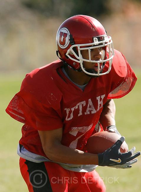 Salt Lake City,UT--4/13/06--3:38:35 PM-..Utes CB Mombroso  Washington during a recent practice with the football team...Chris Detrick/Salt Lake Tribune.File #SPT utes washington CD 03..