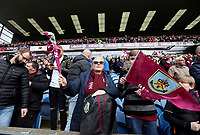 Burnley fans applaud celebrate at the final whistle<br /> <br /> Photographer Rich Linley/CameraSport<br /> <br /> The Premier League - Saturday 13th April 2019 - Burnley v Cardiff City - Turf Moor - Burnley<br /> <br /> World Copyright © 2019 CameraSport. All rights reserved. 43 Linden Ave. Countesthorpe. Leicester. England. LE8 5PG - Tel: +44 (0) 116 277 4147 - admin@camerasport.com - www.camerasport.com