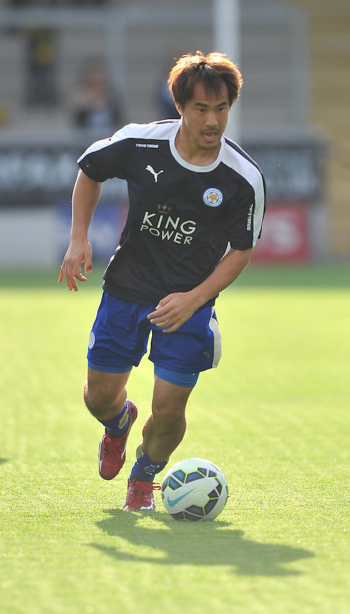 Leicester City's Shinji Okazaki<br /> <br /> Photographer Dave Howarth/CameraSport<br /> <br /> Football - Football Friendly - Burton Albion v Leicester City - Tuesday 28th July 2015 - Pirelli Stadium - Burton upon Trent<br /> <br /> &copy; CameraSport - 43 Linden Ave. Countesthorpe. Leicester. England. LE8 5PG - Tel: +44 (0) 116 277 4147 - admin@camerasport.com - www.camerasport.com