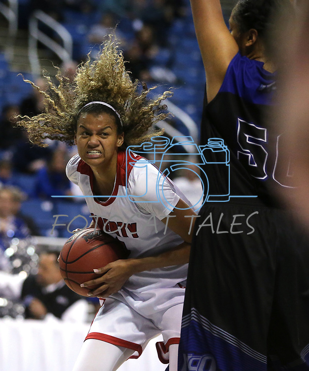 Liberty's Rae Burrell looks to shoot against McQueen during the NIAA state basketball tournament in Reno, Nev., on Wednesday, Feb. 21, 2018. Liberty defeated McQueen 71-33. Cathleen Allison/Las Vegas Review-Journal