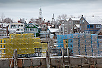 Lobster traps in Rockport Harbor, Cape Ann, MA, USA
