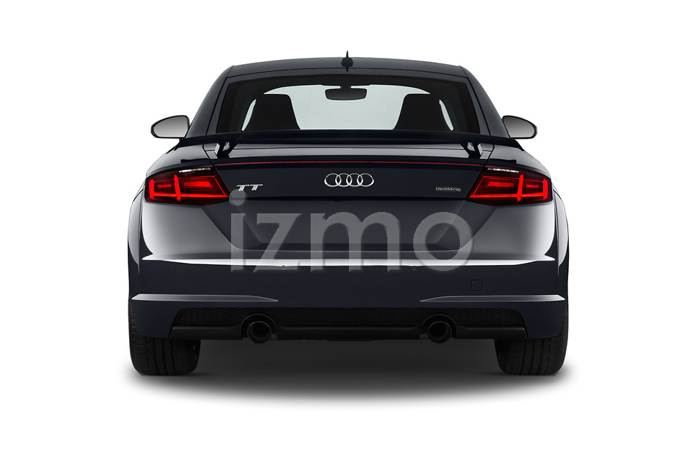 Straight rear view of a 2019 Audi TT-Coupe Base 2 Door Coupe stock images