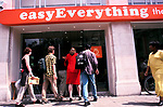 'EASYEVERYTHING INTERNET CAFE', LONDON, UK 1999. ENTRANCE TO THE VICTORIA CAFE., 2000