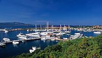Italy, Sardinia, Porto Rotondo: Yacht harbour