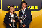 Sportswoman of the Year Lydia Ko from Pinehurst School and Sportsman of the Year Joshua Hawkins from Sacred Heart College. ASB College Sport Young Sportsperson of the Year Awards held at Eden Park, Auckland, on November 24th 2011.