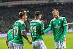 08.03.2019, Weser Stadion, Bremen, GER, 1.FBL, Werder Bremen vs FC Schalke 04, <br /> <br /> DFL REGULATIONS PROHIBIT ANY USE OF PHOTOGRAPHS AS IMAGE SEQUENCES AND/OR QUASI-VIDEO.<br /> <br />  im Bild<br /> <br /> jubel Milot Rashica (Werder Bremen #11)  3:1 mit Max Kruse (Werder Bremen #10) <br /> Maximilian Eggestein (Werder Bremen #35)<br /> Foto &copy; nordphoto / Kokenge