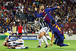 UEFA Champions League 2017/2018 - Matchday 1.<br /> FC Barcelona vs Juventus Football Club: 3-0.<br /> Andrea Barzagli, Gerard Pique &amp; Luis Suarez.