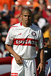 24 April 2004: Fire defender C.J. Brown during player introductions. The Chicago Fire defeated DC United 1-0 at RFK Stadium in Washington, DC on opening day of the regular season in a Major League Soccer game..