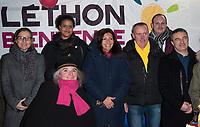 December 8 2017, PARIS FRANCE<br /> The Mayor of Paris Anne Hidalgo and her<br /> Assistants visit the Telethon Village 2017<br /> to meet the Afm Association at Hotel de Ville Paris.