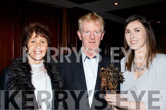 L-R Mary, Paud&Lorraine Scanlon from Knocknagoshel with their daughter at a special function to honour Lorraine getting a All Star Award 2017 with the Kerry Ladies senior team in the RiverIsland hotel, Castleisland last Saturday night.