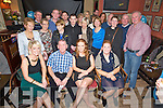 Sean Foley, Keel, Castlemaine, pictured with some of his family and friends as he celebrated his 60th birthday in the Anvil Bar, Boolteens on Friday night.