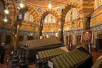 Türkei, Süleymanye Camii (Moschee) in Istanbul, erbaut 1550/1557 von Sinan, in der Türbe (Mausoleum) von Sultan Süleyman, Unesco-Weltkulturerbe