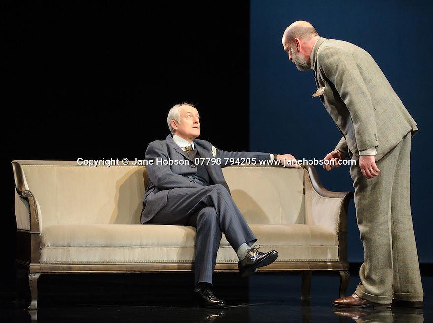 London, UK. 09.11.2015. WASTE, by Harley Granville Barker, directed by Roger Michell, opens at the National Theatre. Picture shows: Gerrard McArthur (Lord Charles Cantilupe), Paul Hickey (Justin O'Connell). Photograph © Jane Hobson.