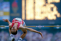 High Jump during 1996 Summer Olympics. Atlanta Georgia United States Olympic Stadium.