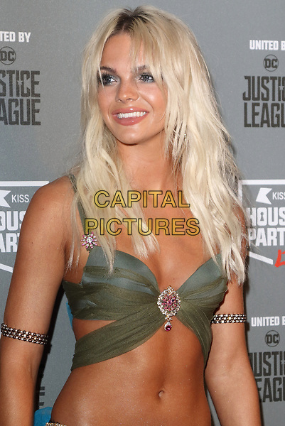 Louisa Johnson at the KISS House Party at SSE Arena Wembley, London on Thursday 26 October 2017<br /> CAP/ROS<br /> &copy;ROS/Capital Pictures