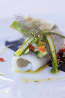 """Europe/France/2A/Corse du Sud/Propriano: Canelloni  de seiche  et asperges vertes  recette de Freddy Faverot  Chef du Restaurant """"Le Tout Va Bien -chez Parenti"""""""